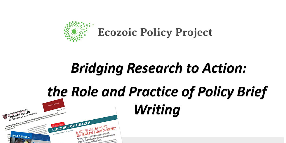 Workshop: Bridging Research to Action: the Role and Practice of Policy Brief Writing