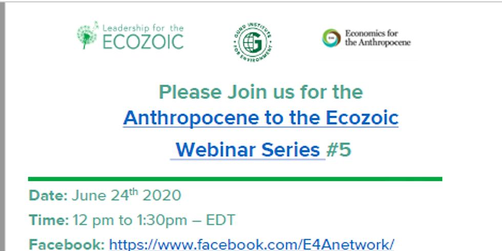 Anthropocene to the Ecozoic Webinar Series # 5 - Monetary System Reform