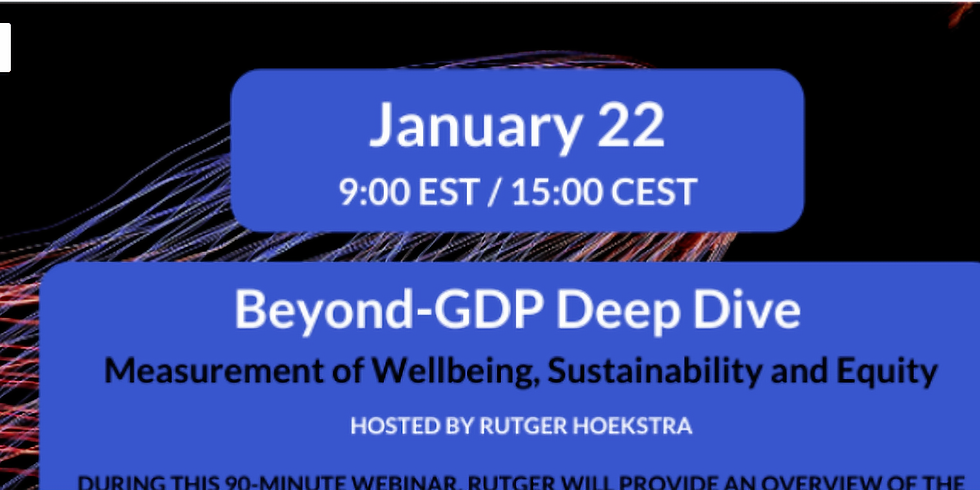 Beyond-GDP Deep Dive: Measurement of Wellbeing, Sustainability and Equity