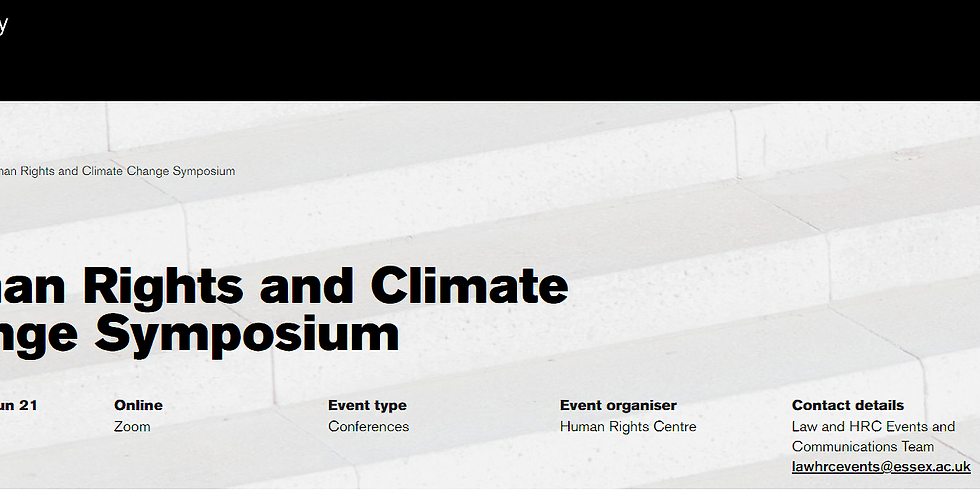 Human Rights and Climate Change Symposium