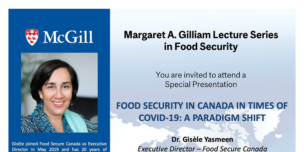 Food security in Canda in times of Covid-19: A paradigm shift