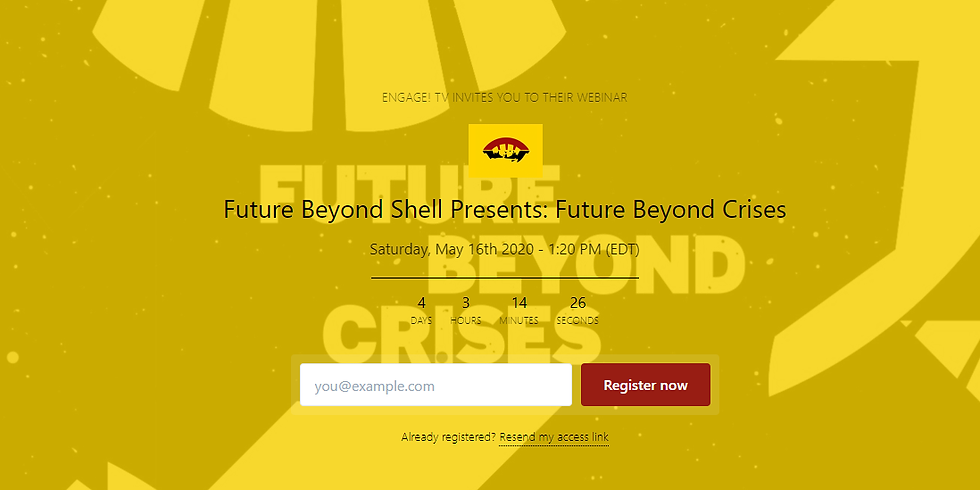 Future Beyond Shell presents: 'Future Beyond Crises'