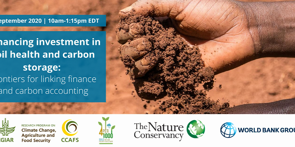 Enhancing investment in soil health and carbon storage: Frontiers for linking finance and carbon accounting