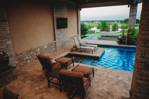 Custom Patios & Pavers by Red Valley Landscape & Construction in Barton Creek, Texas