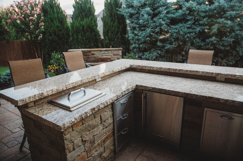 Custom Outdoor Kitchen by Red Valley Landscape & Construction in Mustang, Ok