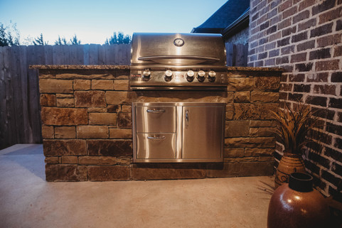 Custom Outdoor Kitchen by Red Valley Landscape & Construction in Enid, Ok