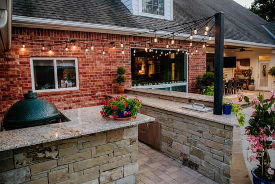 Custom Outdoor Kitchen by Red Valley Landscape & Construction in Blanchard, Ok