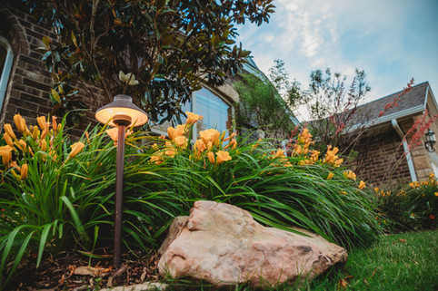Landscape Lighting by Red Valley Landscape & Construction in The Village, Ok