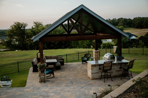 Custom Arbors & Pavilions by Red Valley Landscape & Construction in OKC, Ok