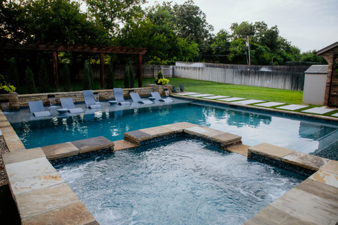 Custom Pools & Spas by Red Valley Landscape & Construction in OKC Metro, Ok