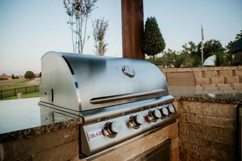 Custom Outdoor Kitchen by Red Valley Landscape & Construction in Jones, Ok