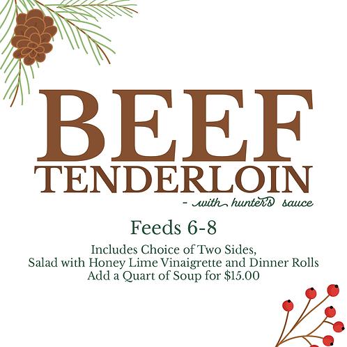 Beef Tenderloin With Hunters Sauce