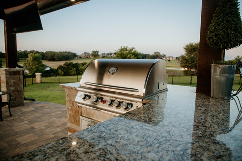Custom Outdoor Kitchen by Red Valley Landscape & Construction in OKC, Ok