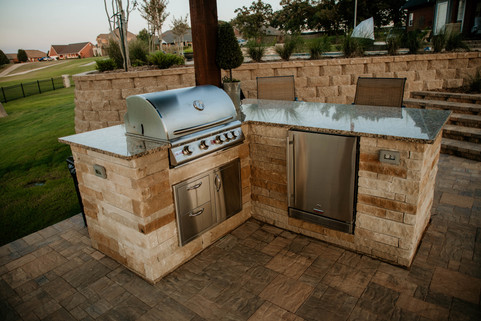 Custom Outdoor Kitchen by Red Valley Landscape & Construction in Norman, Ok