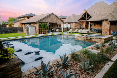 Custom Pools & Spas by Red Valley Landscape & Construction in Marble Falls, Texas