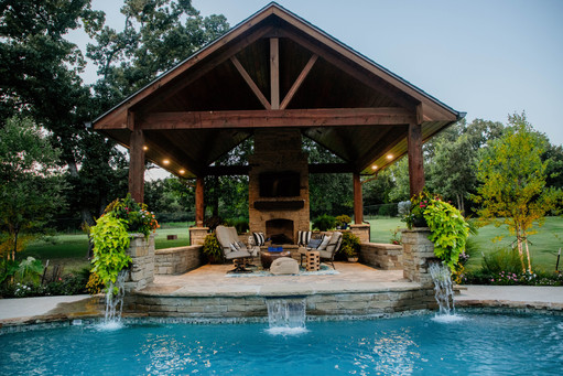 Custom Arbors & Pavilions by Red Valley Landscape & Construction in Arcadia, Ok
