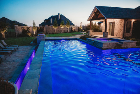 Custom Pools & Spas by Red Valley Landscape & Construction in Edmond, Ok
