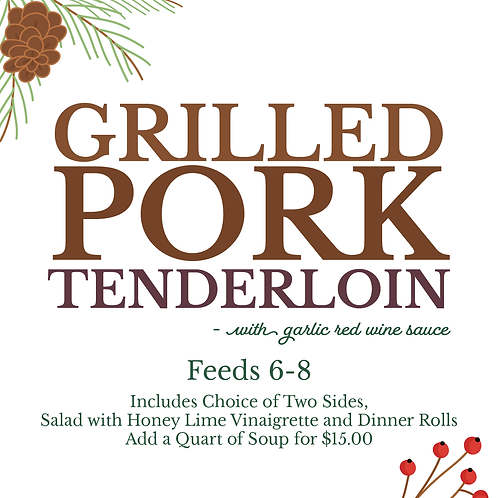 Grilled Pork Tenderloin With Garlic Red Wine Sauce
