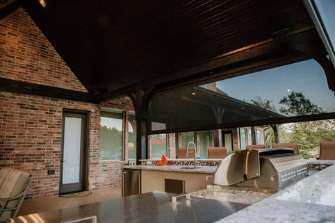 Custom Outdoor Kitchen by Red Valley Landscape & Construction in Piedmont, Ok
