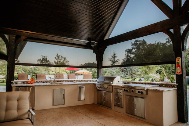 Custom Outdoor Kitchen by Red Valley Landscape & Construction in Spicewood, Texas