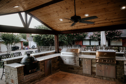 Custom Arbors & Pavilions by Red Valley Landscape & Construction in OKC