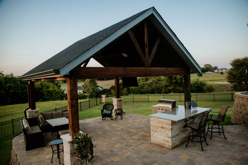 Custom Arbors & Pavilions by Red Valley Landscape & Construction in Musting, Ok