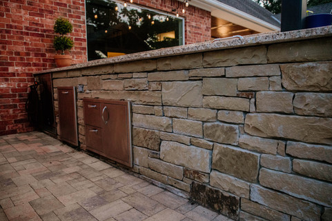 Custom Outdoor Kitchen by Red Valley Landscape & Construction in Guthrie, Ok