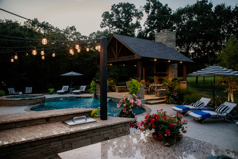 Custom Outdoor Kitchen by Red Valley Landscape & Construction in Deer Creek, Ok