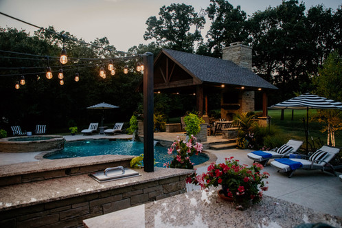 Custom Outdoor Kitchen by Red Valley Landscape & Construction in North Austin, Texas