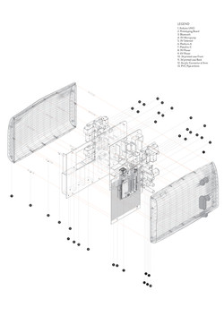 Exploded drawing of mechanism