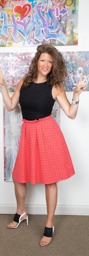 Eyelet A-line Skirt with Deep Pockets