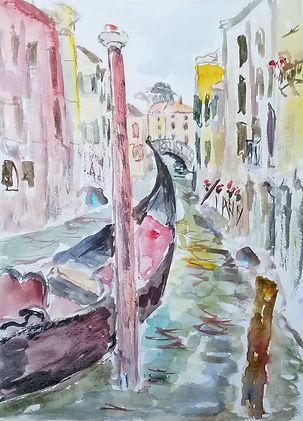 Venice gondola watercolor original.jpg