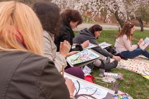 cherry blossom adult class plein-air aca