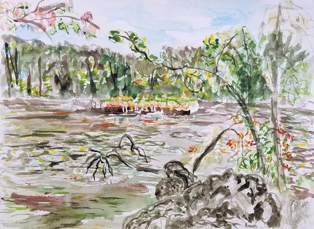 Wellesley Morses Pond Lillies original w