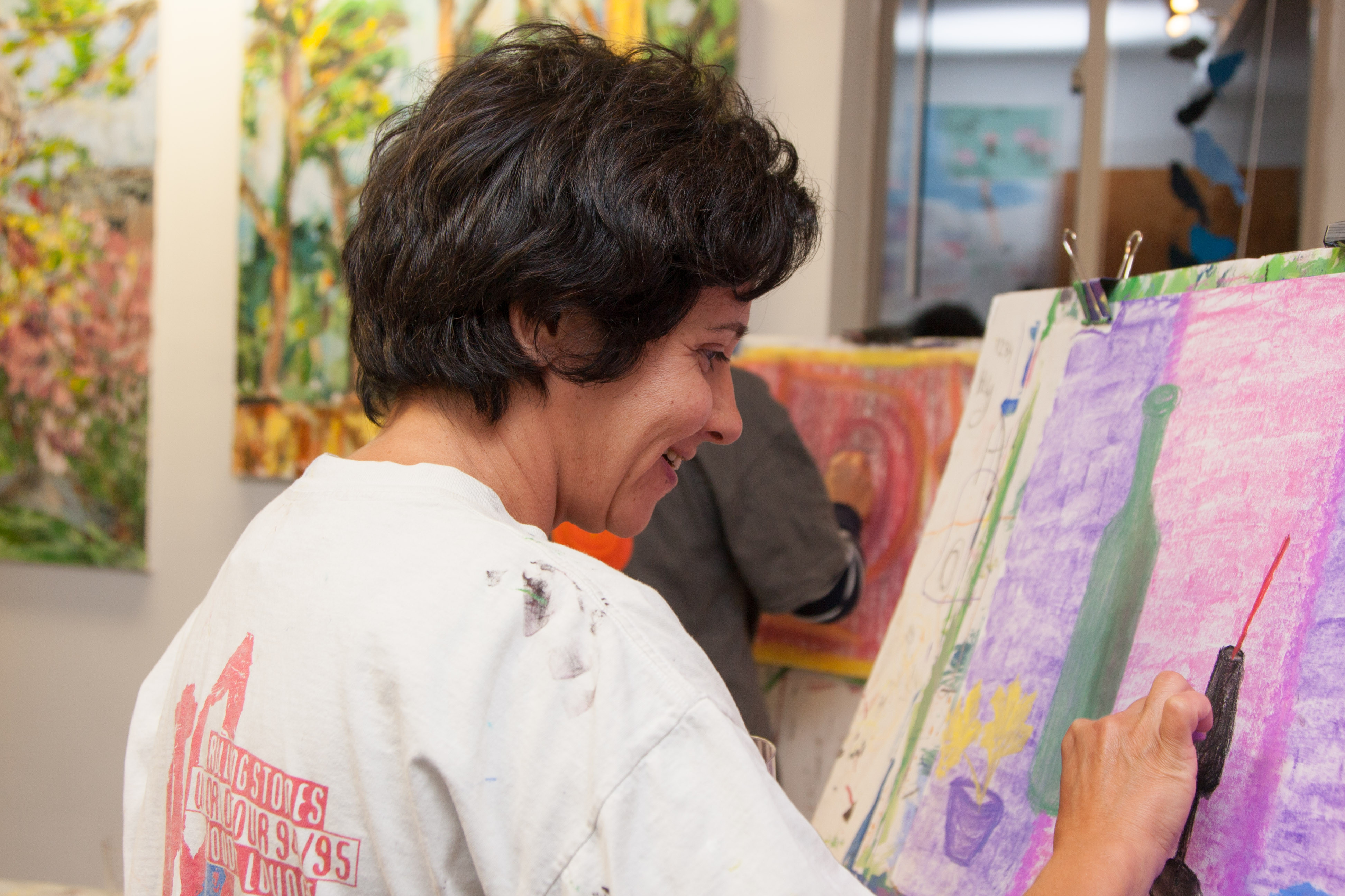 Adult Technique Studies: Clay, Painting
