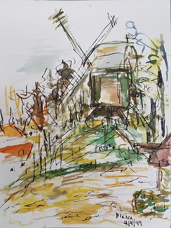 Bruges windmill_watercolor_original.jpg