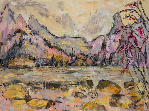 Spring Softness at Yellowstone - Oil and Wax on Canvas