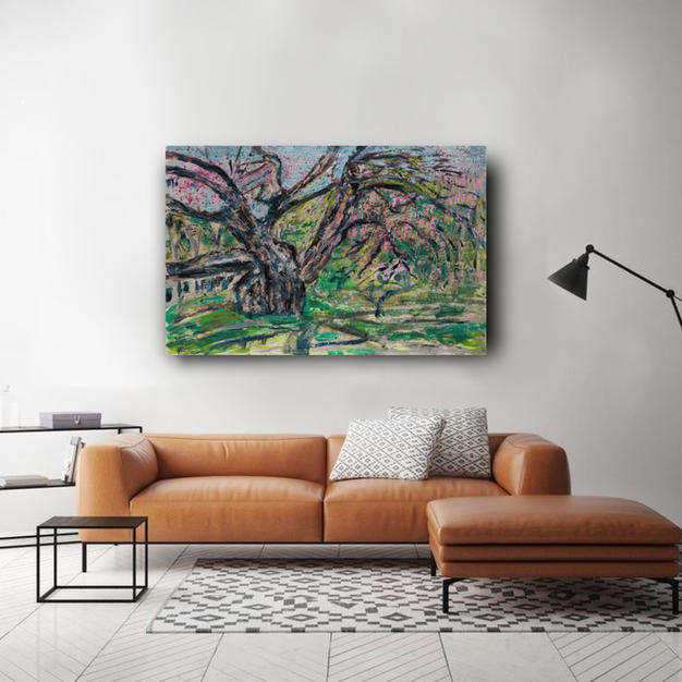 Relax under the calming cherry tree