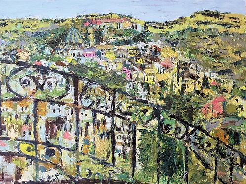 Ragusa, Sicily - hilltop fairytown - Oil and Wax on Canvas