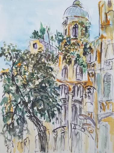 Madrid watercolor