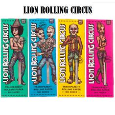 Lion Rolling Circus 1 1/4 Papel Transparente Celulosa