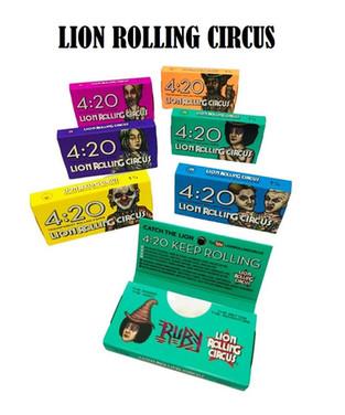Lion Rolling Circus 1 1/4 Papel Transparente Celulosa 4:20