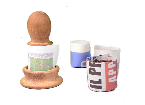 Formavaso fai i tuoi vasi da semina in carta da riciclo