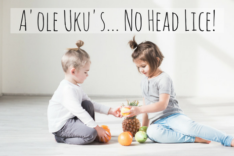 "Malama Mondays: ""A'ole Ukus… No head lice"""