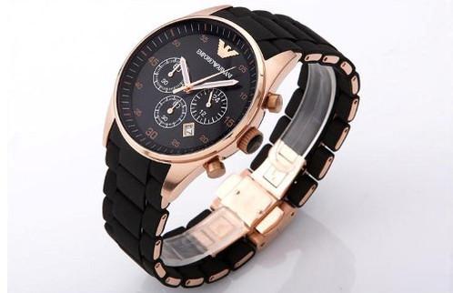 mens emporio armani ar5905 black rose gold watch xs watches mens emporio armani ar5905 black rose gold watch