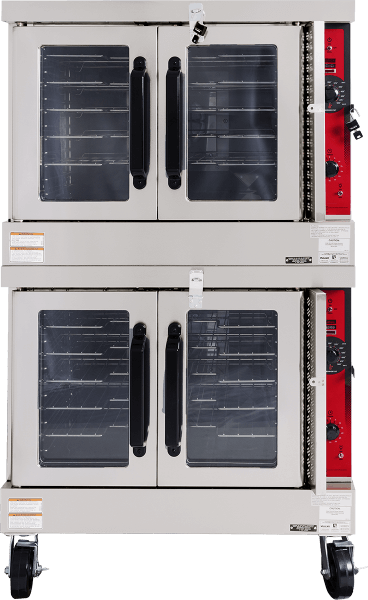 "Vulcan VC6 Commercial Oven Double Deck 46 1/4"" Depth with Electric Controls"