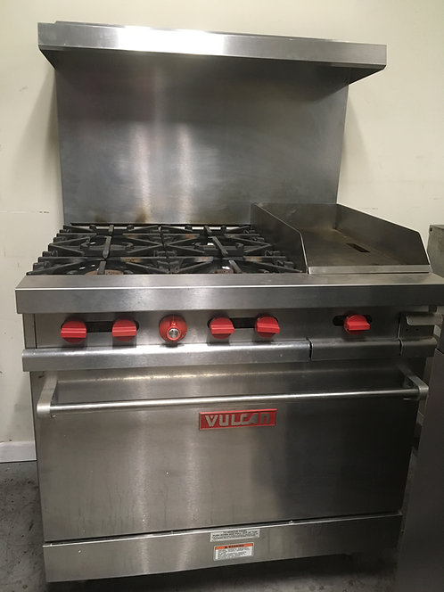 """Vulcan combo: stove with 12"""" griddle and built in oven"""