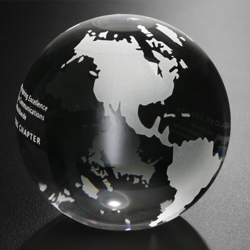 Continental Globe Paperweight