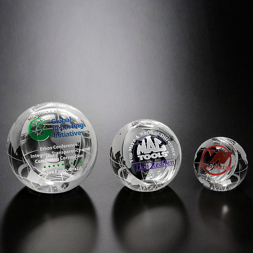 Clipped Globe Paperweight