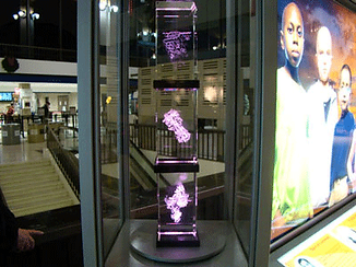 3D crystal DNA rectangle cube blocks for St. Jude Children's Reasearch Hospital Display